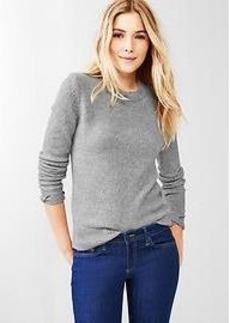 Cozy metallic-neck sweater