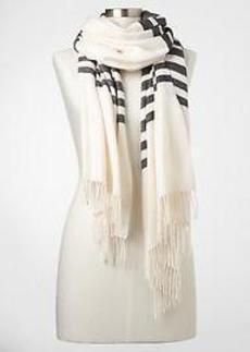 Cozy stripe colorblock scarf