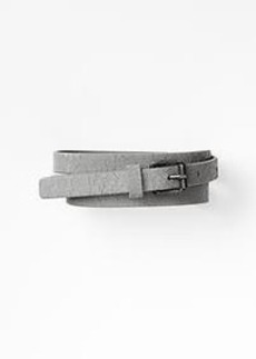 Crackled leather belt
