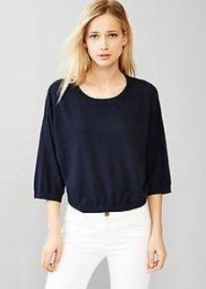 Crop sweater top