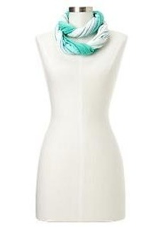 Dip dye stripe infinity scarf