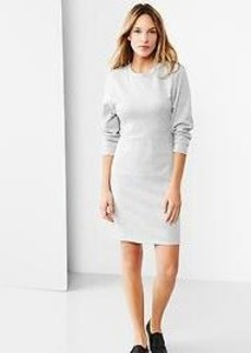 Dolman-sleeve knit dress