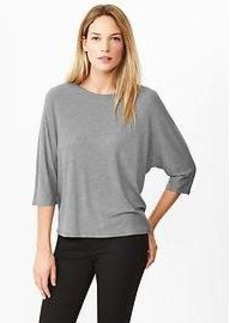 Dolman three-quarter sleeve tee