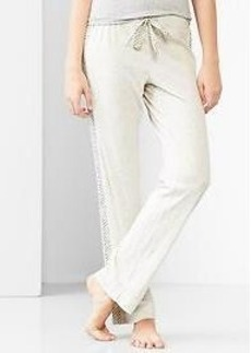 Dot-stripe jersey pants