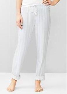 Double-weave cotton roll-up pants