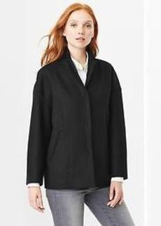 Drop-shoulder short coat