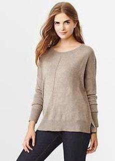 Drop-shoulder sweater