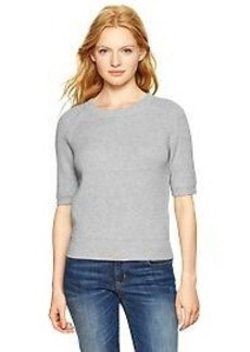 Elbow-length shrunken sweater