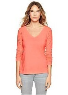 Essential long-sleeve V-neck tee