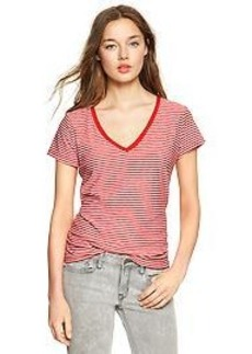 Essential stripe V-neck tee