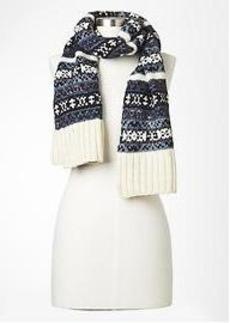 Fair isle wool scarf