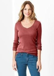 Favorite long-sleeve V-neck tee