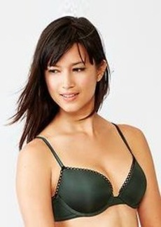 Favorite satin lace-trim uplift bra