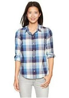 Fitted boyfriend checkered shirt