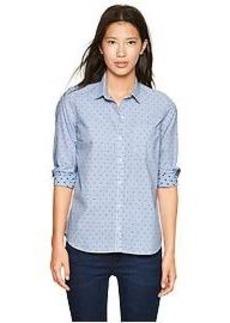 Fitted boyfriend dots & stripes shirt