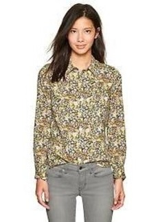 Fitted boyfriend floral shirt