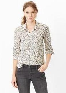 Fitted boyfriend floral shirt