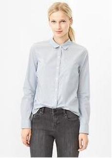 Fitted boyfriend mini-stripe shirt