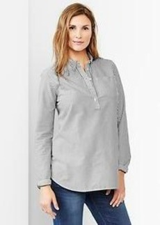 Fitted boyfriend oxford popover shirt
