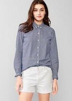Fitted boyfriend oxford shirt
