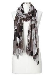 Floral camo scarf