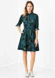 Floral camo shirtdress