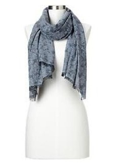 Floral chambray scarf
