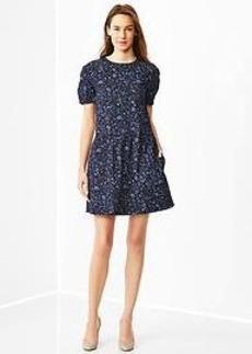 Floral drop-waist dress