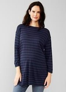 Fluid stripe tunic top