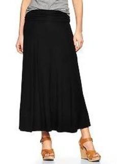 Foldover maxi skirt