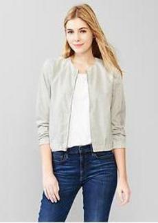 Heathered bomber jacket