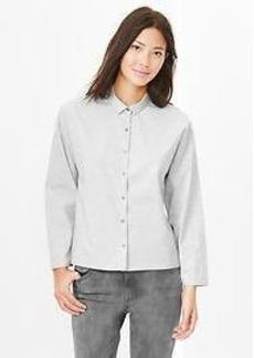 Heathered crop shirt