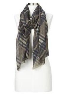 Heathered plaid scarf