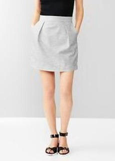 Heathered pleated mini skirt
