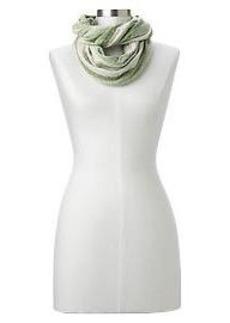 Heathered stripe infinity scarf