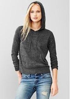 Heathered sweater hoodie
