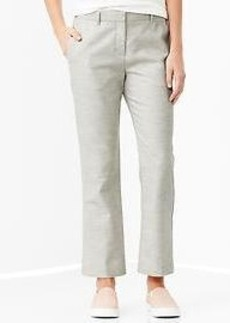 Heathered tailored crop pants