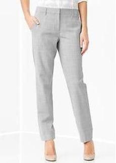 Heathered true straight pants