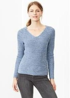 Heathered V-neck sweater