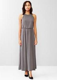 High-neck maxi dress