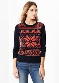 Holiday fair isle sweater