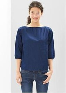 Indigo boatneck top