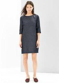 Indigo shift dress
