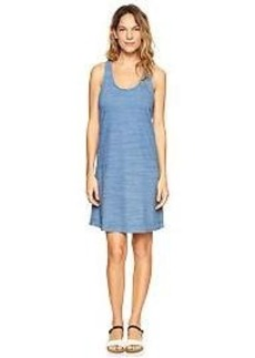 Indigo stripe crisscross dress