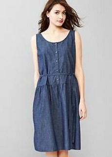 Indigo tank shirtdress
