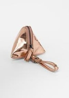 Iridescent metallic triangle coin purse