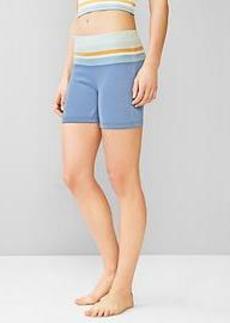 Knit stripe-waist shorts