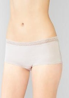 Lace-trim modal girl shorts