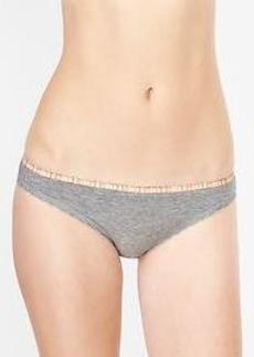 Lace-trim skinny bikini