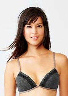 Lace-trim wireless bra